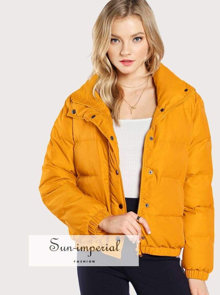 b76b779df3 Type: Padded Coat Color: Ginger Composition: 100% Polyester Collar: Funnel  Neck
