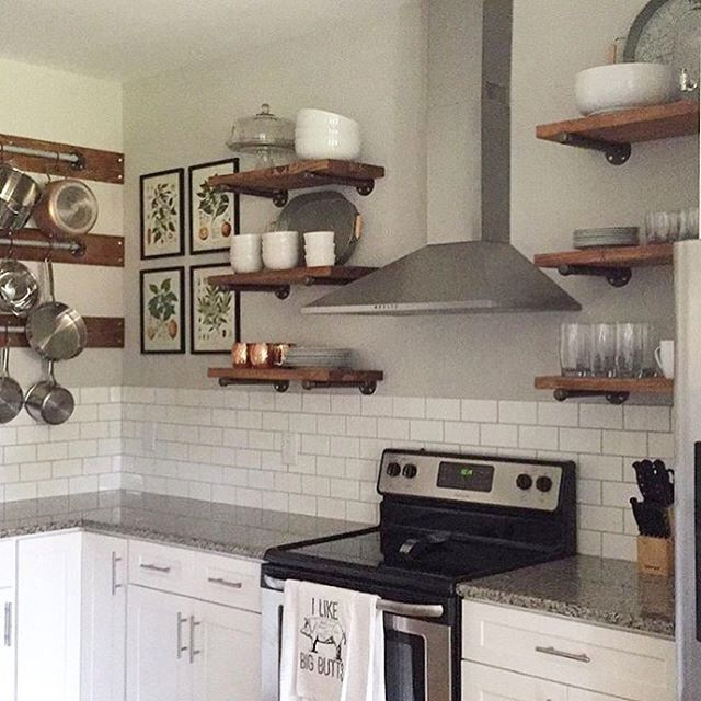 open kitchen shelving floating shelves open kitchen shelves industrial pipe 31229