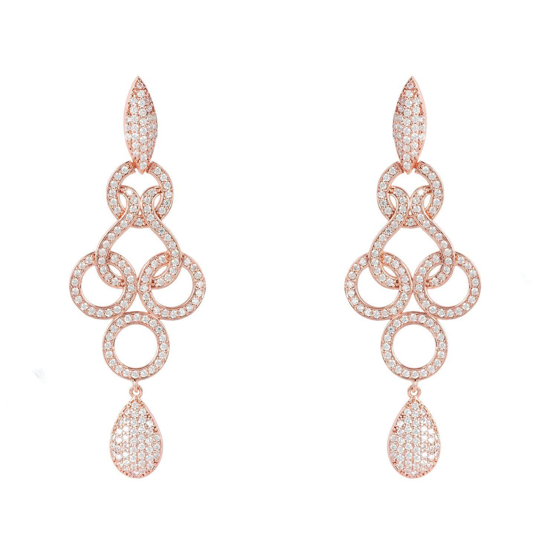 LATELITA Celtic Knot Shannon Drop Earrings Rose Gold