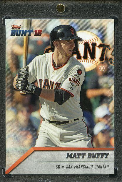2016 Topps Bunt Baseball 1/1 Blank Back. Matt Duffy GIANTS