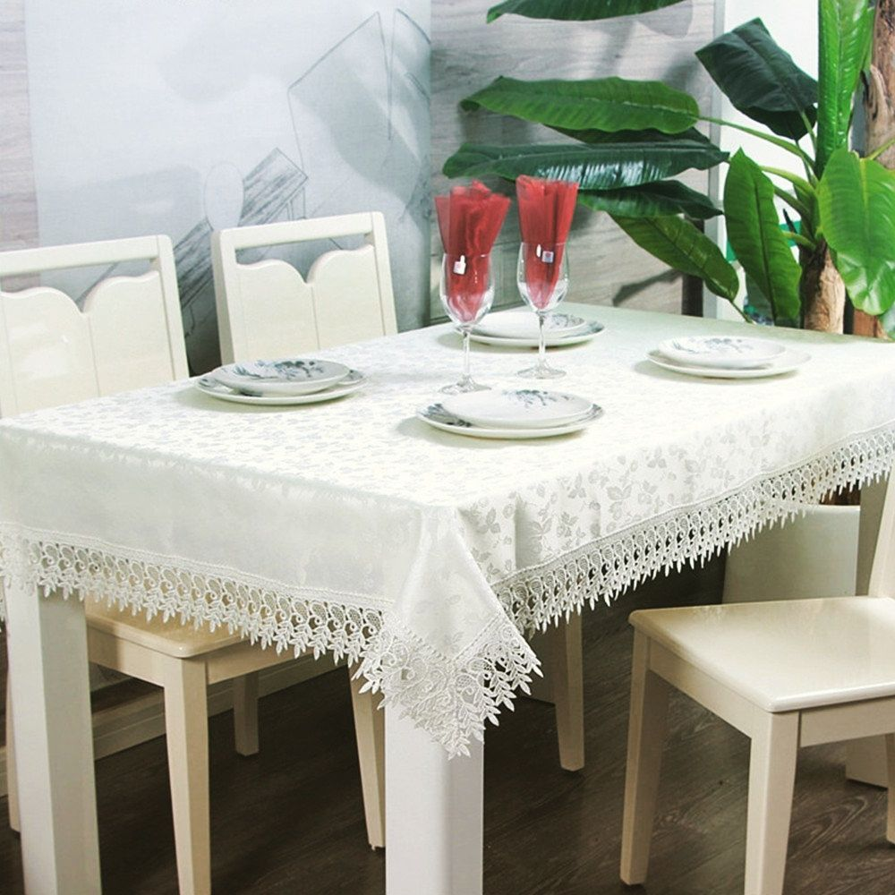 Vintage white floral tablecloth is the best table cover for your ...