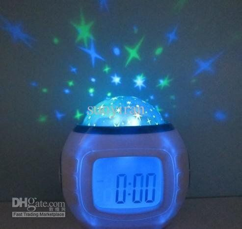 Digital Projector Alarm Clock Multi Function Clapping Controlled ...