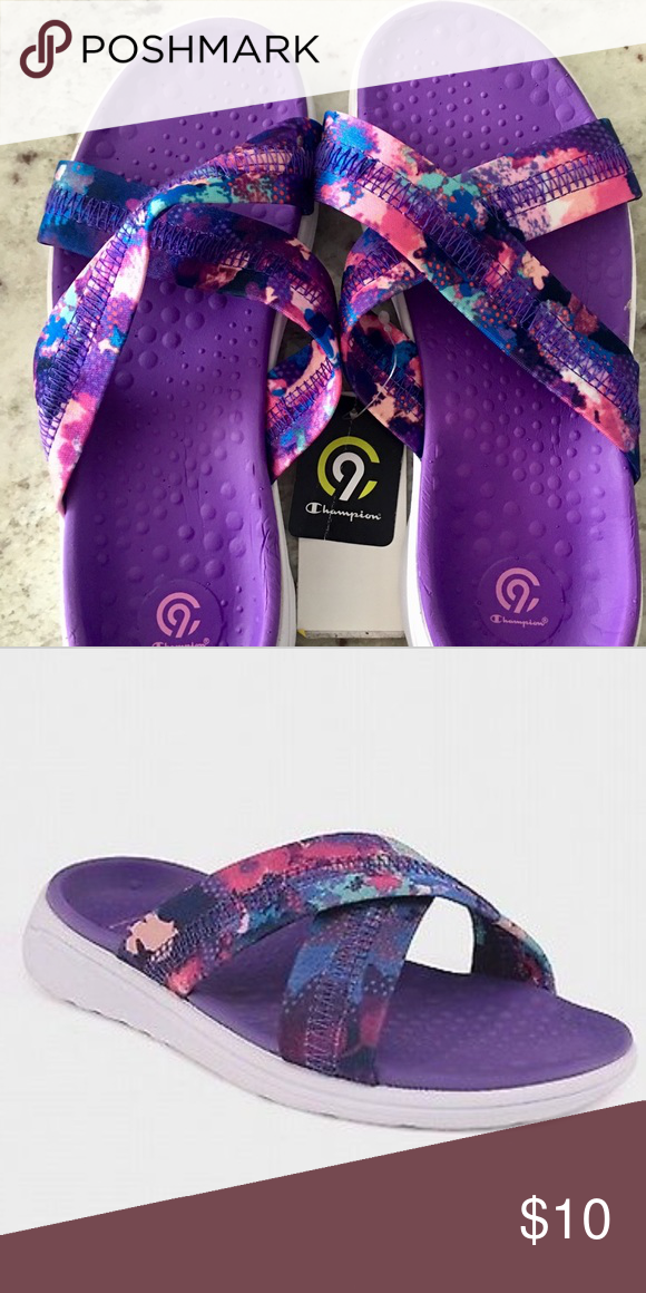 edd1e2e6ae3 Girl s Champion Malvina Slides Sandals Purple These are a very pretty pair  of Champion C9