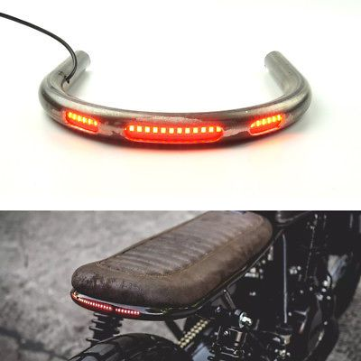 Seat Frame Hoop Loop Brat Style With Led Brake Turn Singal Light For