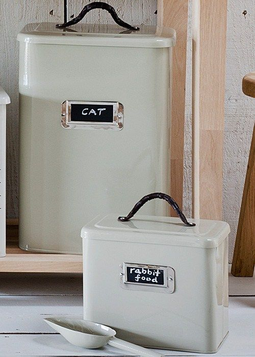 Large Pet Food Storage Bin In Clay From Garden Trading Kitty