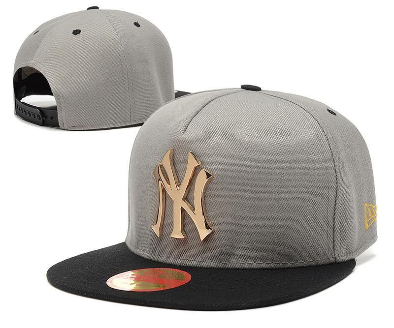 Men S New York Yankees New Era 9fifty Gold Metal Ny Logo A Frame Baseball Snapback Hat Grey Black Gorras