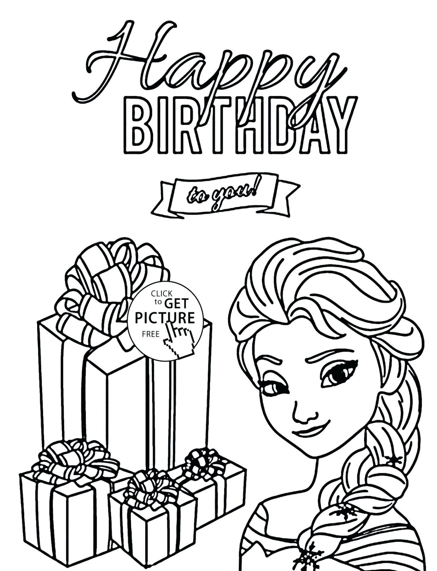 Birthday Coloring Pages For Grandma Coloring Freerthday Card For Grandma Printable Co Happy Birthday Coloring Pages Birthday Coloring Pages Elsa Coloring Pages