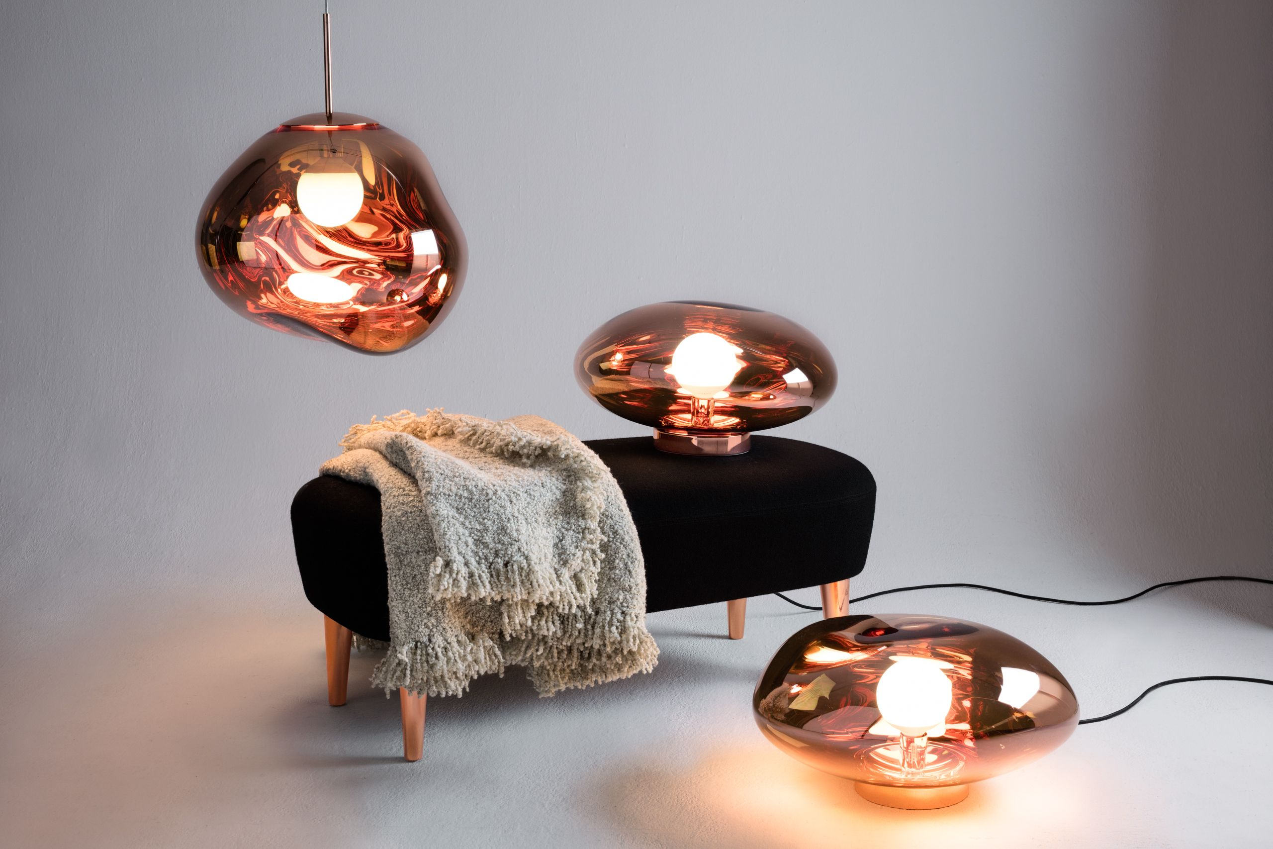 Melt Surface Copper With Melt Copper Pendant Wingback Long Ottoman Boucle Throw 15 Off All Tom Dixon Light Tom Dixon Melt Tom Dixon Modern Furniture Shops