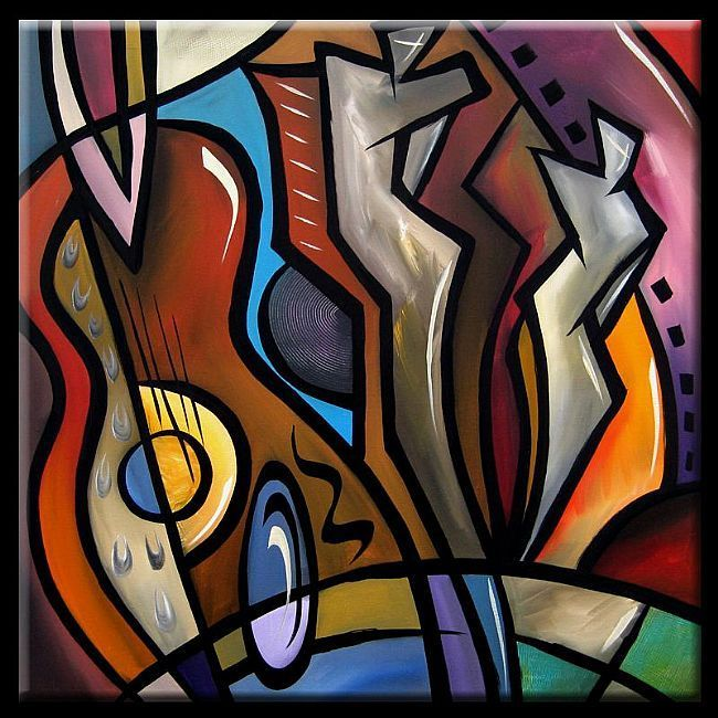 Art: Cubist 110 3030 Original Cubist Art Ovation by Artist ...