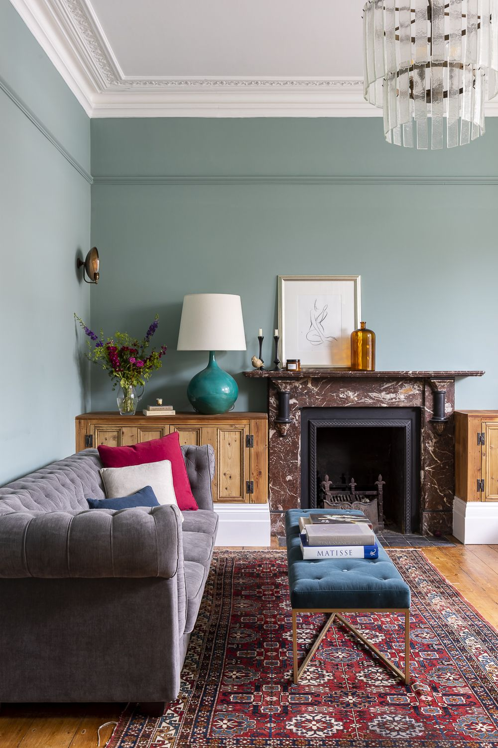 Interior Design Styling In This Large 5 Bedroom Victorian House By Imperfect Interiors Www Imperfectint Victorian Living Room Living Room Grey Oval Room Blue