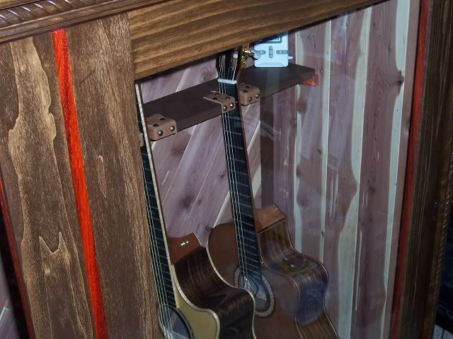 Built My Own Display Cabinet The Acoustic Guitar Forum Display Cabinet Stud Walls Beautiful Cabinet