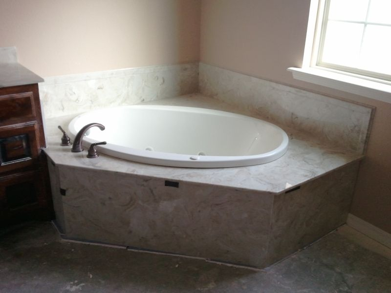 Corner oval tub bathroom pinterest tubs corner and bathtubs - Corner tub bathrooms design ...