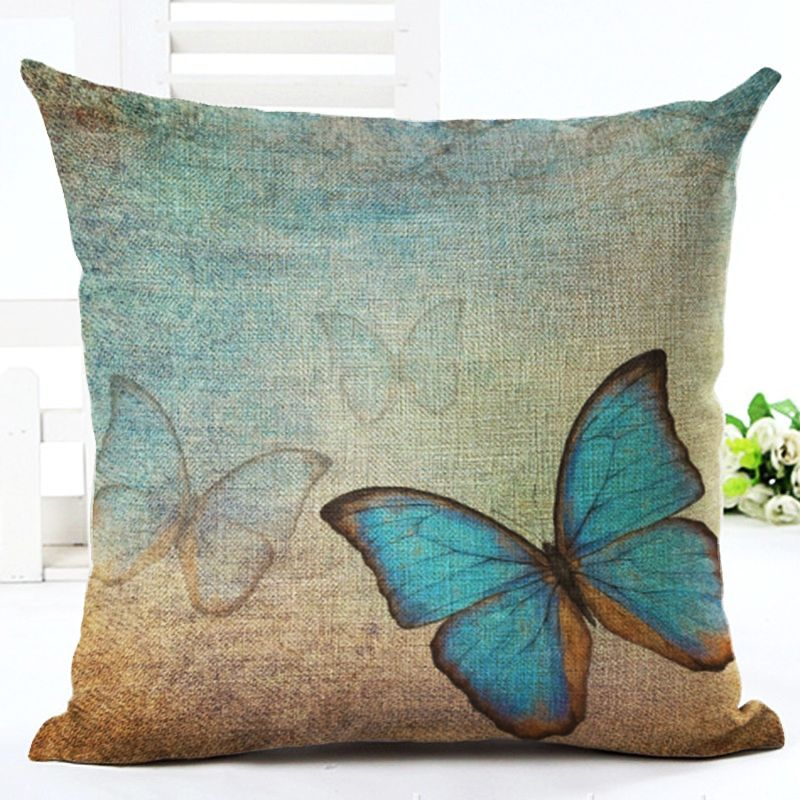 Docushion Wholesale Butterfly Series Linen Cushion Cover Wedding