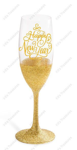 6.2 oz Champagne Flute - Happy New Year - Customized Gift - Gift For ...