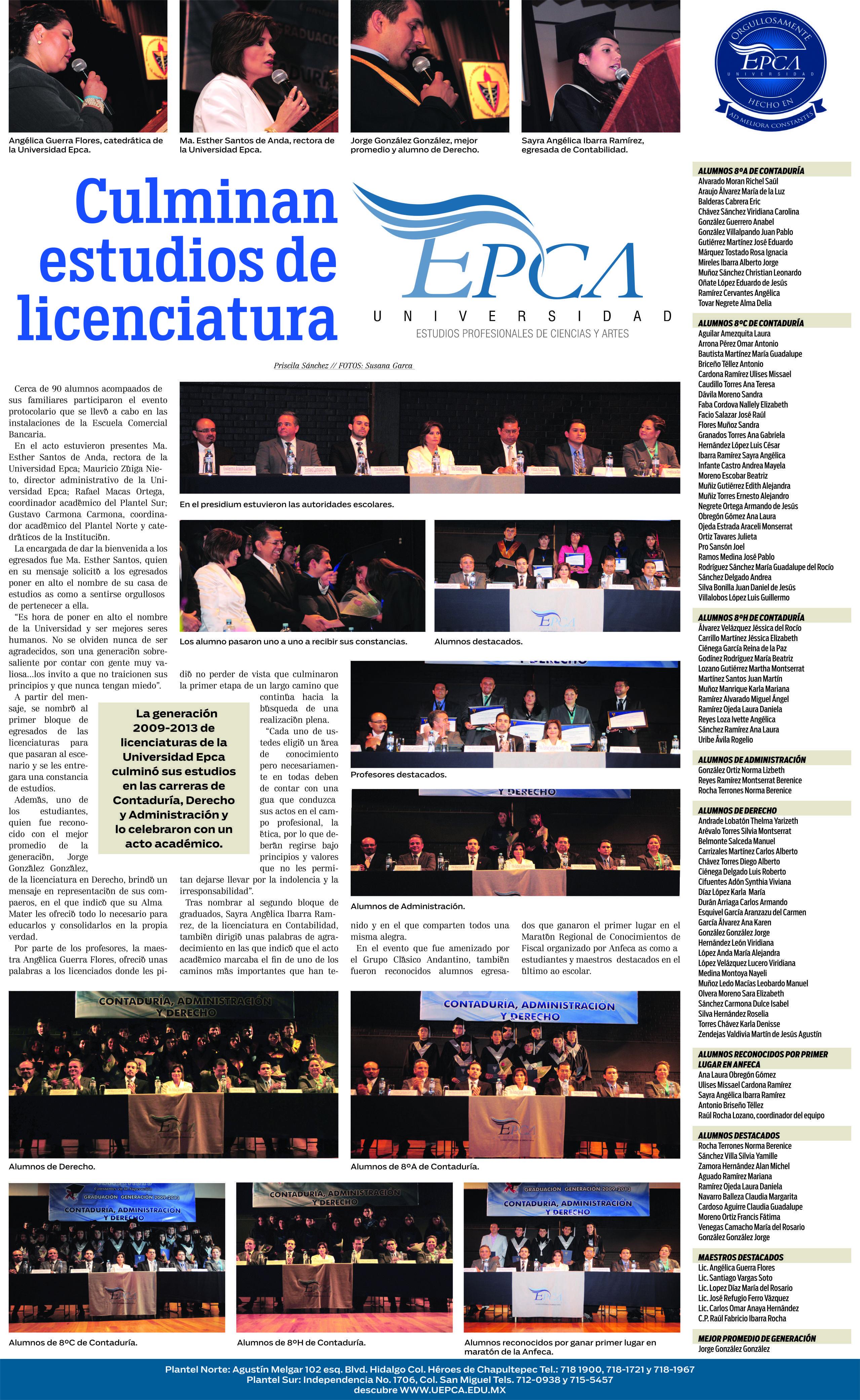 GRADUACIONES PUUBLICADAS EN PERIÓDICO AM LEÓN GTO