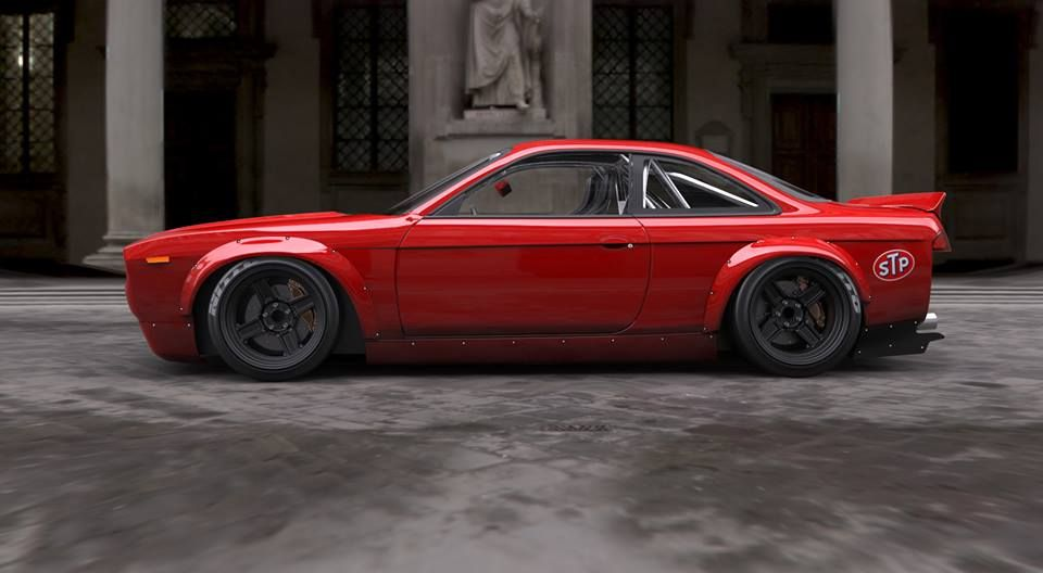 Nissan 200SX with Retro Muscle Car (Plymouth Barracuda) bodykit ...
