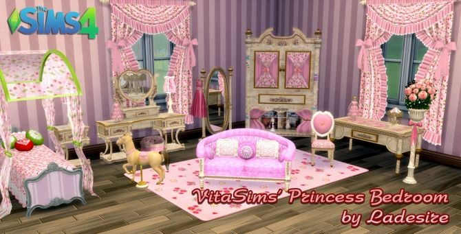 VitaSims Princess Bedroom at Ladesire • Sims 4 Updates | Sims 4 ...