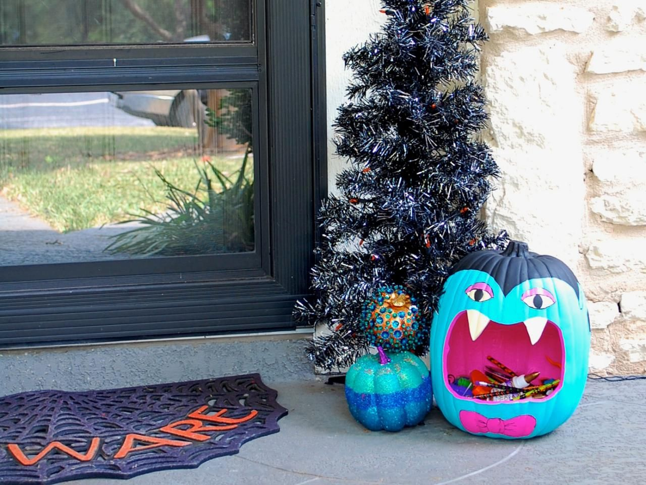 Halloween Decorations DIY Halloween, Teal pumpkin and Whimsical