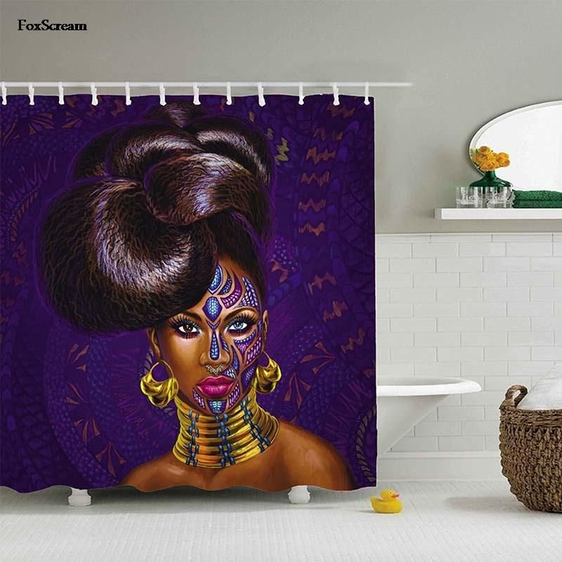 Royal Beauty Shower Curtain Dream Bathrooms African Women Curtains
