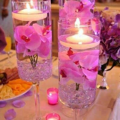 Floating candles in a glass!!!