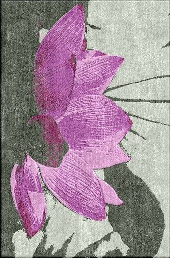 LUXE Designer Purple Lotus Blossom Art Rug Enjoy & Be Inspired More Beautiful Hollywood Interior Design Inspirations To Repin & Share @ InStyle-Decor.com Beverly Hills Happy Pinning