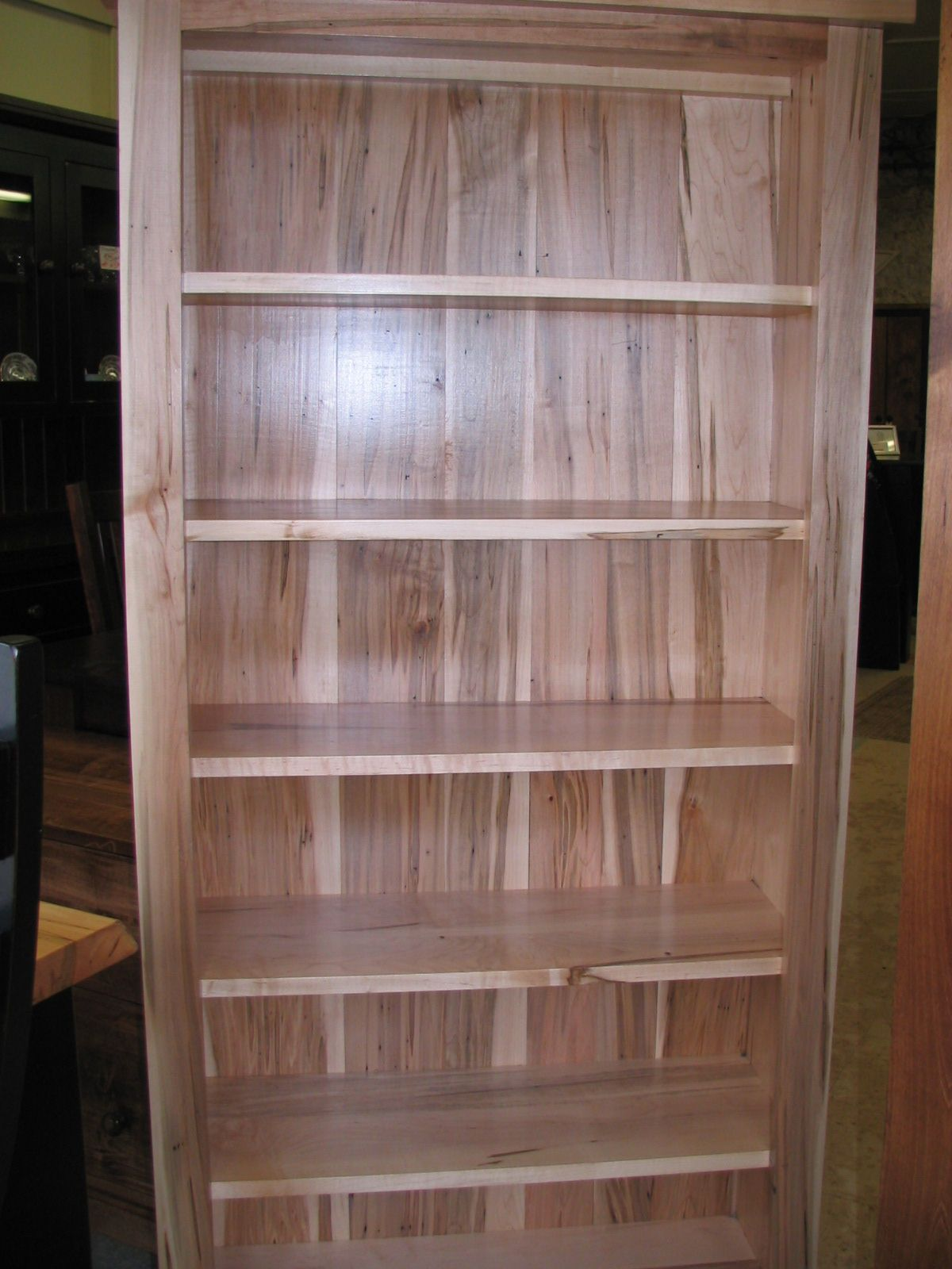 in bookcase table wormy pin natural maple on finish pinterest