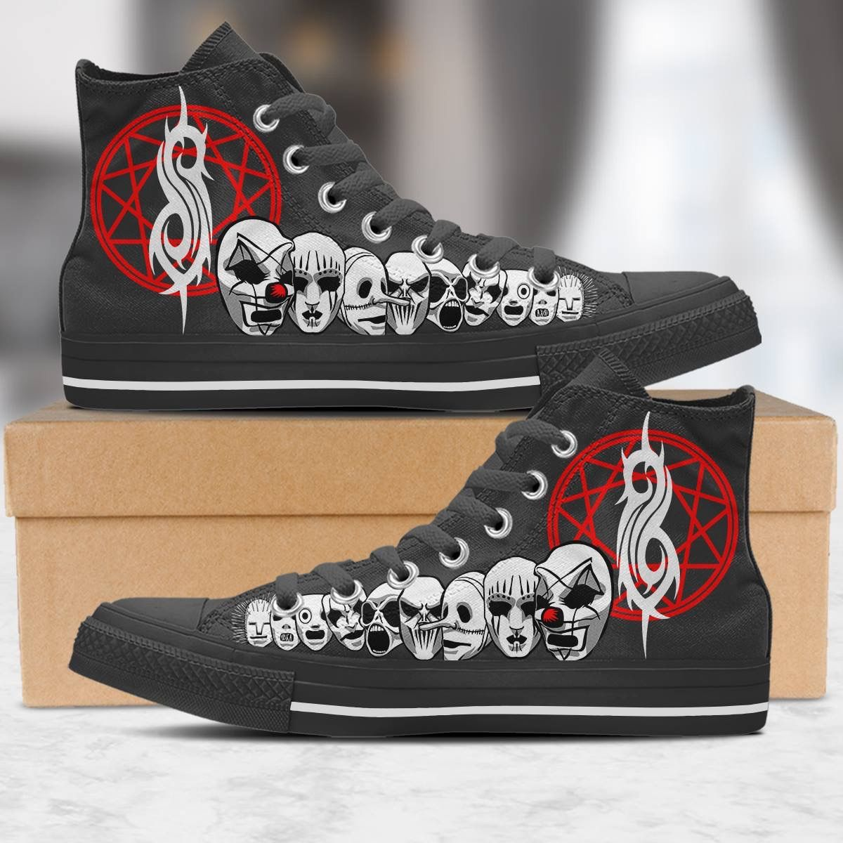 Slipknot Chuck Taylors in 2020 | Band outfits, Slipknot