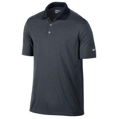 Nike Golf Dri-Fit Victory Stripe Polo - Black/White XXL