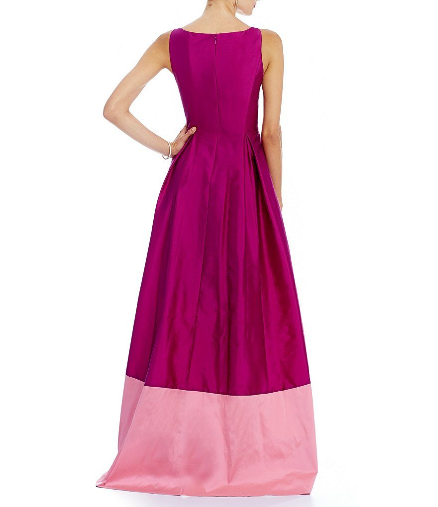Shop for Adrianna Papell Two-Tone Hi-Low Sleeveless Taffeta Gown at ...