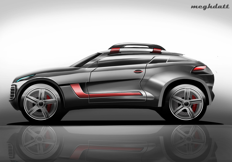 Suv Concept Side View Render Bike Sketch Car Automotive