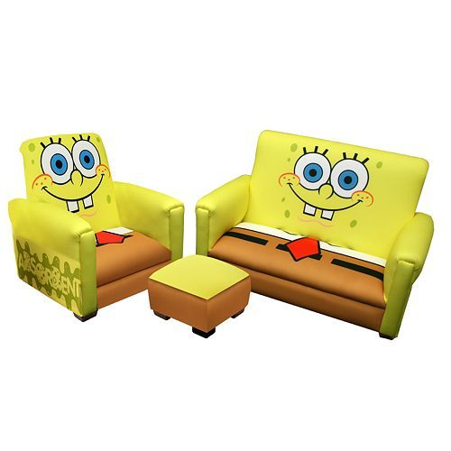Terrific Spongebob Square Pants Furniture Set 149 99 Toddler Sofa Beatyapartments Chair Design Images Beatyapartmentscom