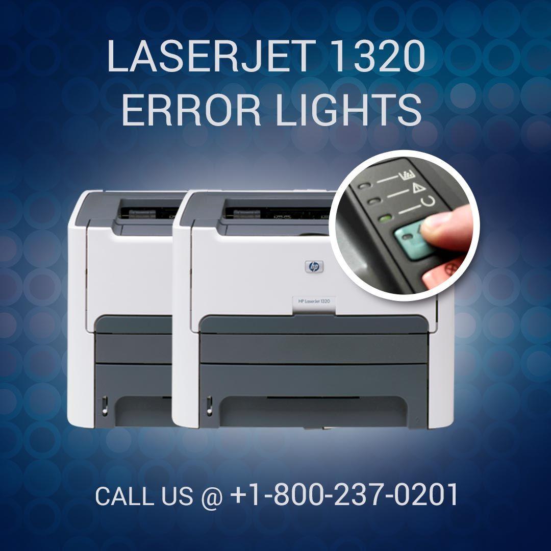 Are you facing error light problem on HP LaserJet 1320 printer? Just dial 1-