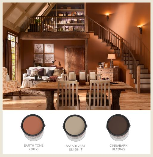 Terracotta Orange Wall Color Walls Are A Warm Accompaniment To Hardwood Floors And