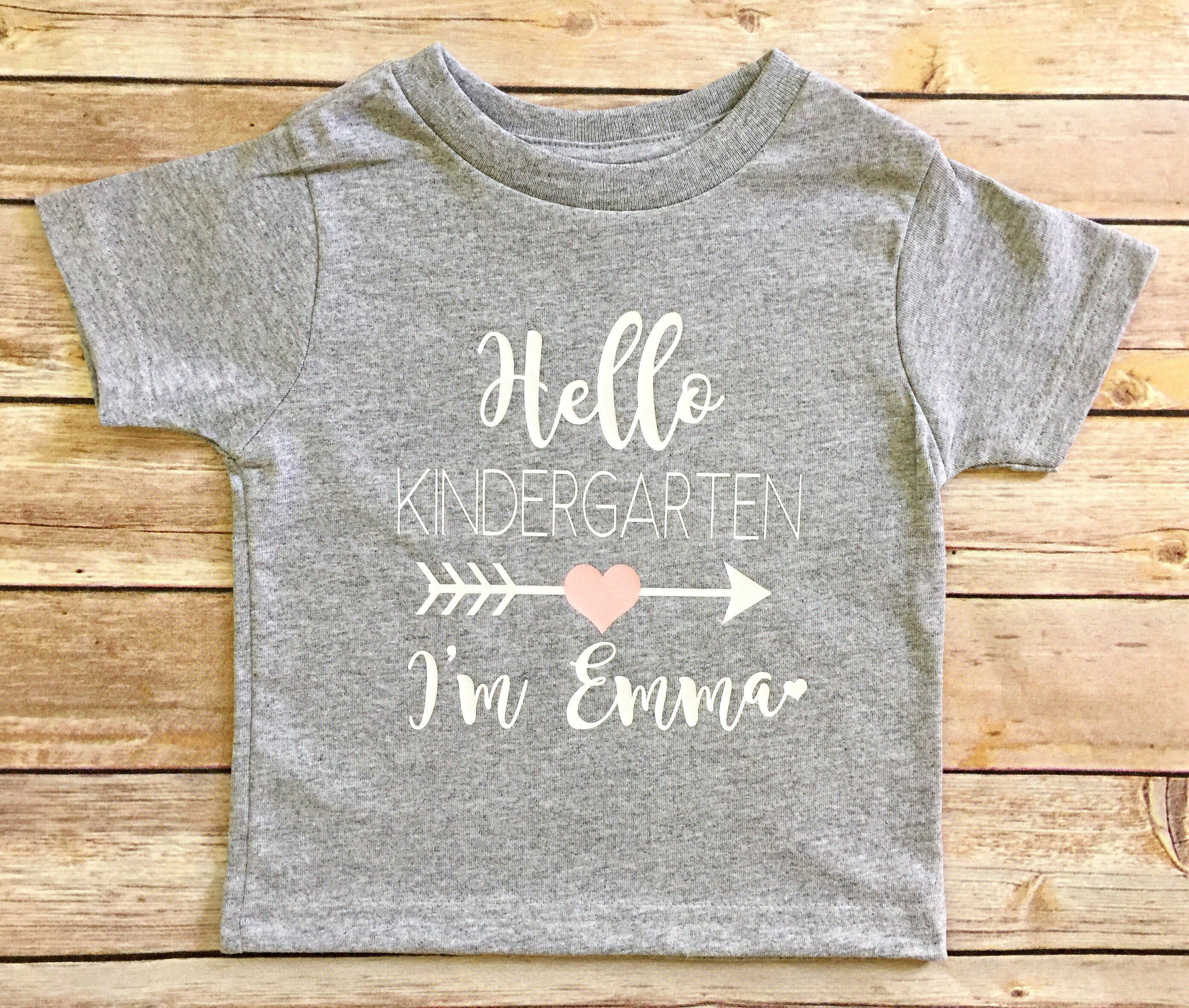 Hello Kindergarten T Shirt Hello I M New Here First Day