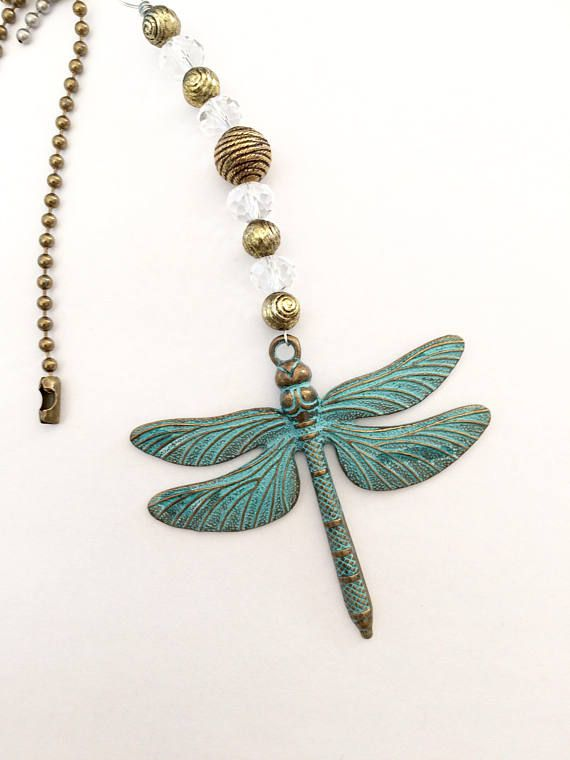 Decorative Light Pull Chain Unique Light Pull Ceiling Fan Pulls Patina Dragonfly Charm And Bronze 2018
