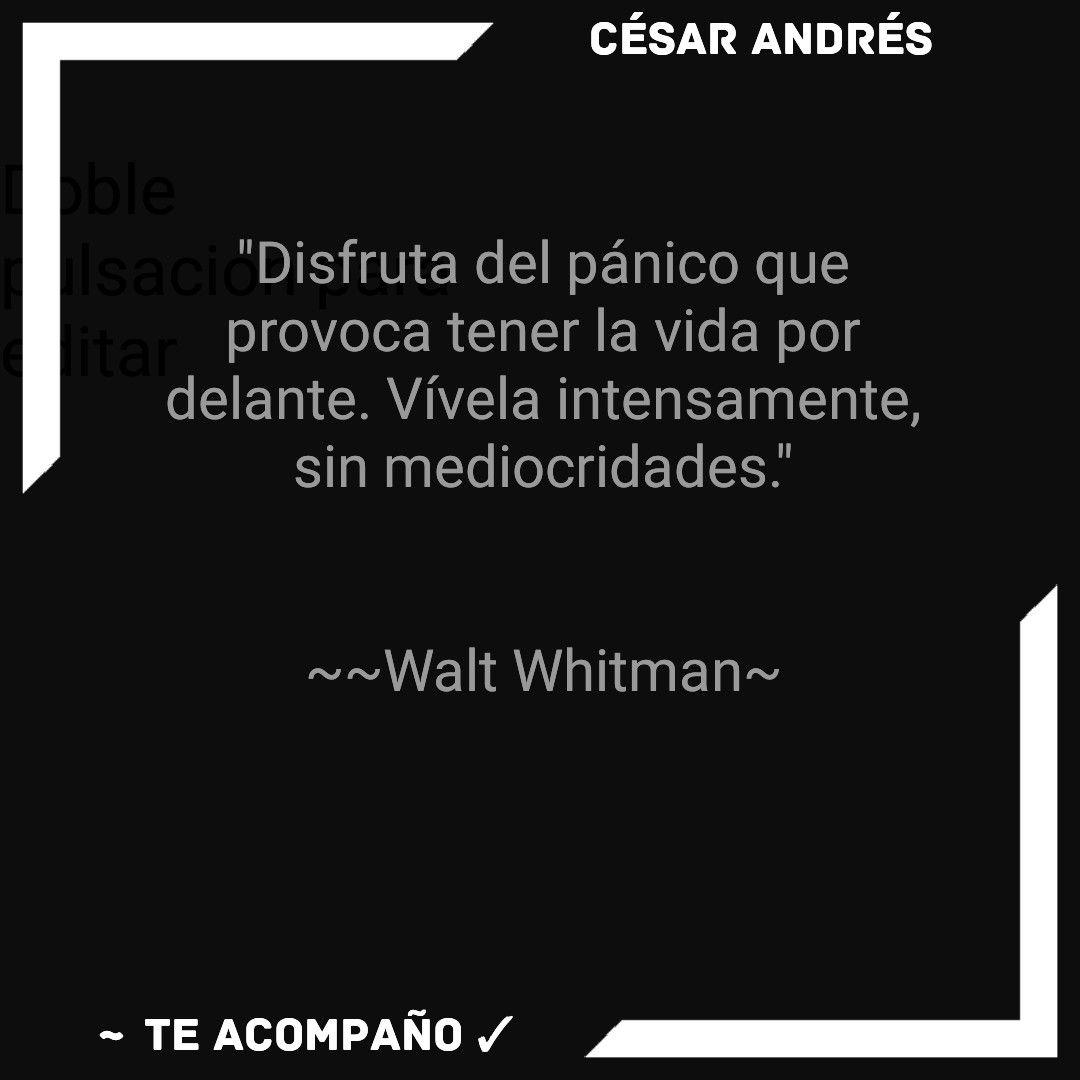 Pin De César Andrés Te Acompaño En César Andrés Te Acompaño Walt Whitman Palabras Whitman