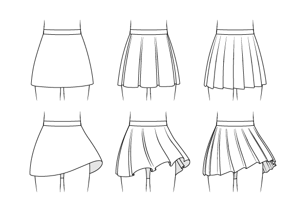 How To Draw Anime Skirts Step By Step Manga School Uniform Drawing This Tutorial Shows How To Draw Three Typ In 2020 Anime Skirts Drawing Anime Bodies Manga School