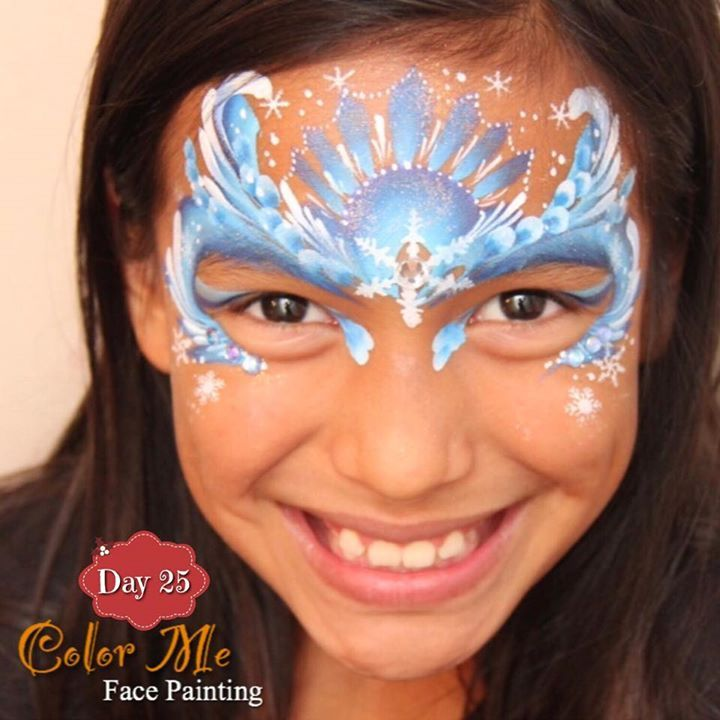 25 Days of Christmas. Ice Queen face painting - Color Me Face Painting