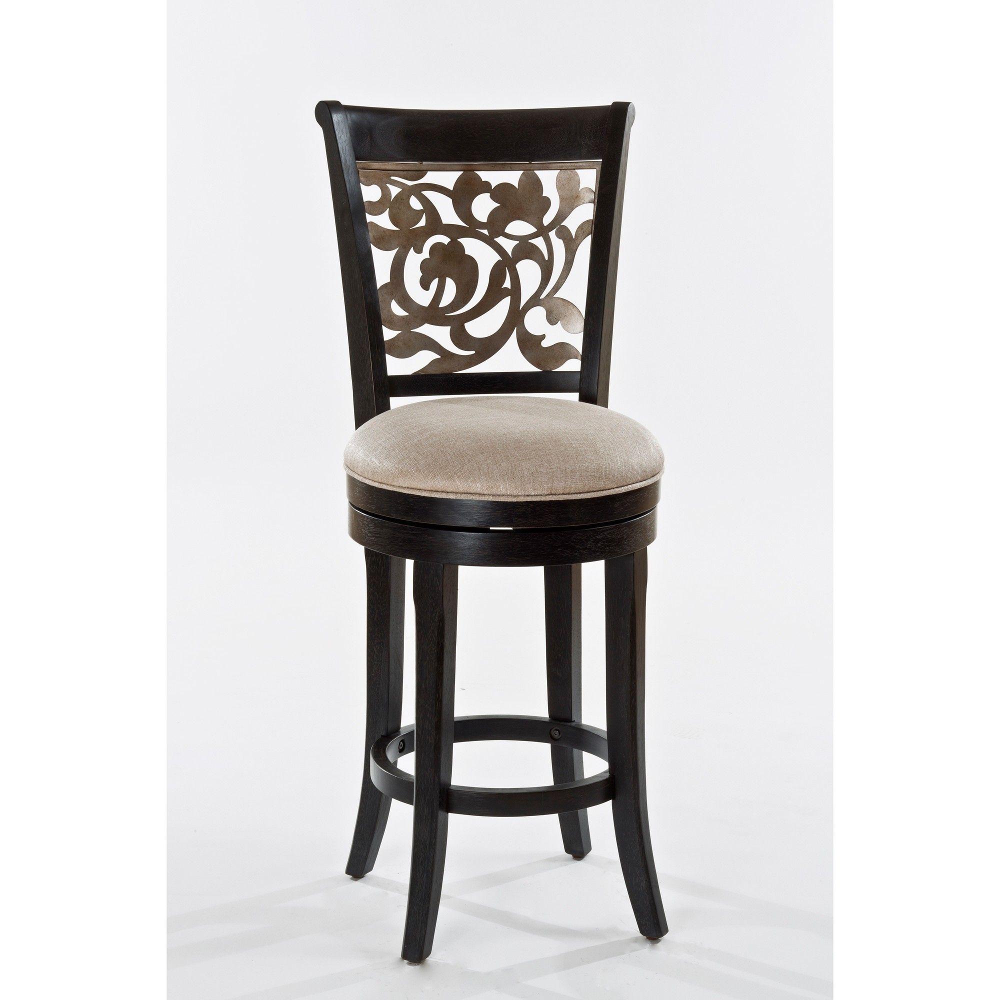 Wondrous 26 Bennington Swivel Counter Stool Wood Black Hillsdale Andrewgaddart Wooden Chair Designs For Living Room Andrewgaddartcom