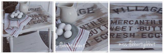Farmhouse Table - Miss Flibbertigibbet