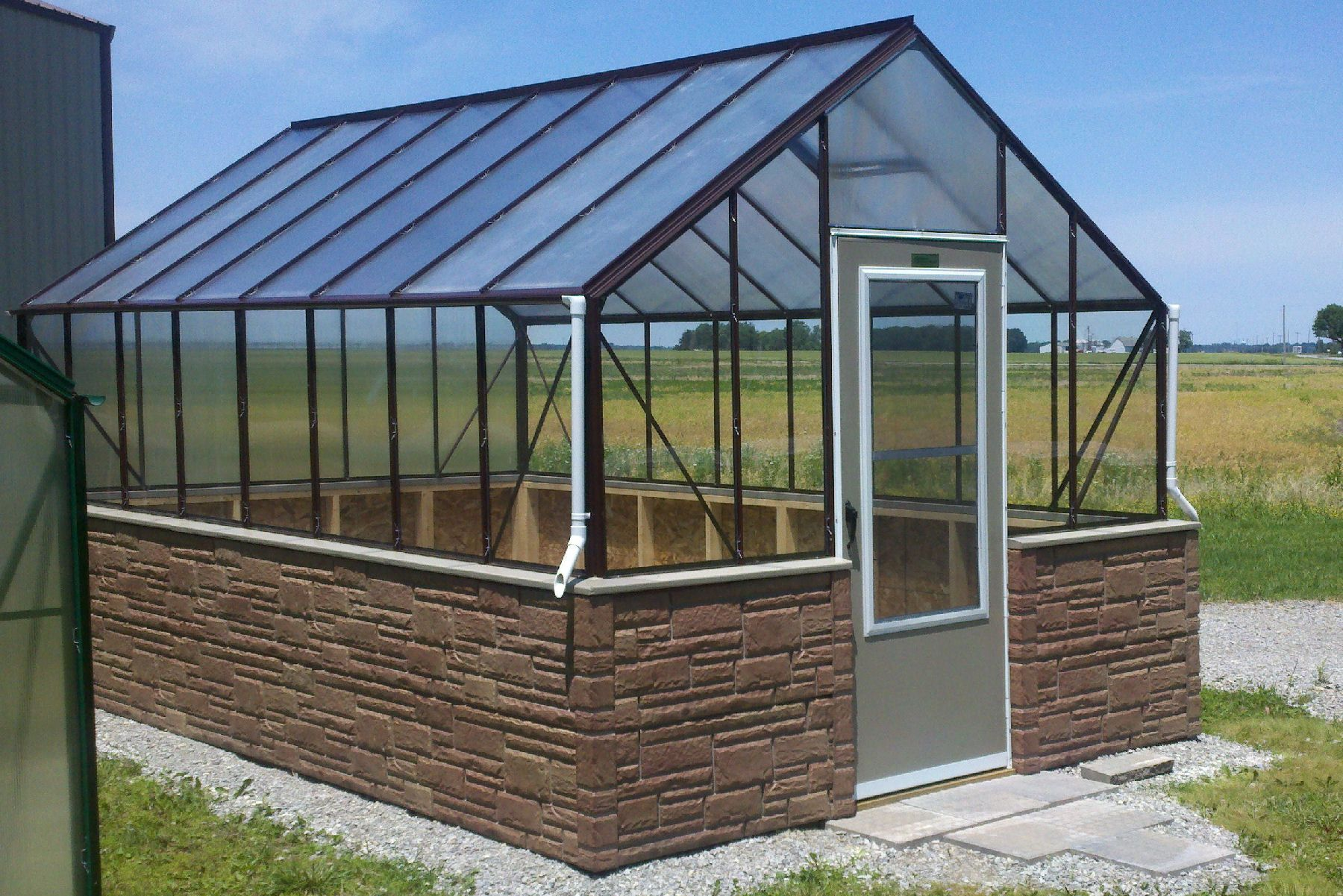 See Through Polycarbonate Greenhouse | Garden ideas