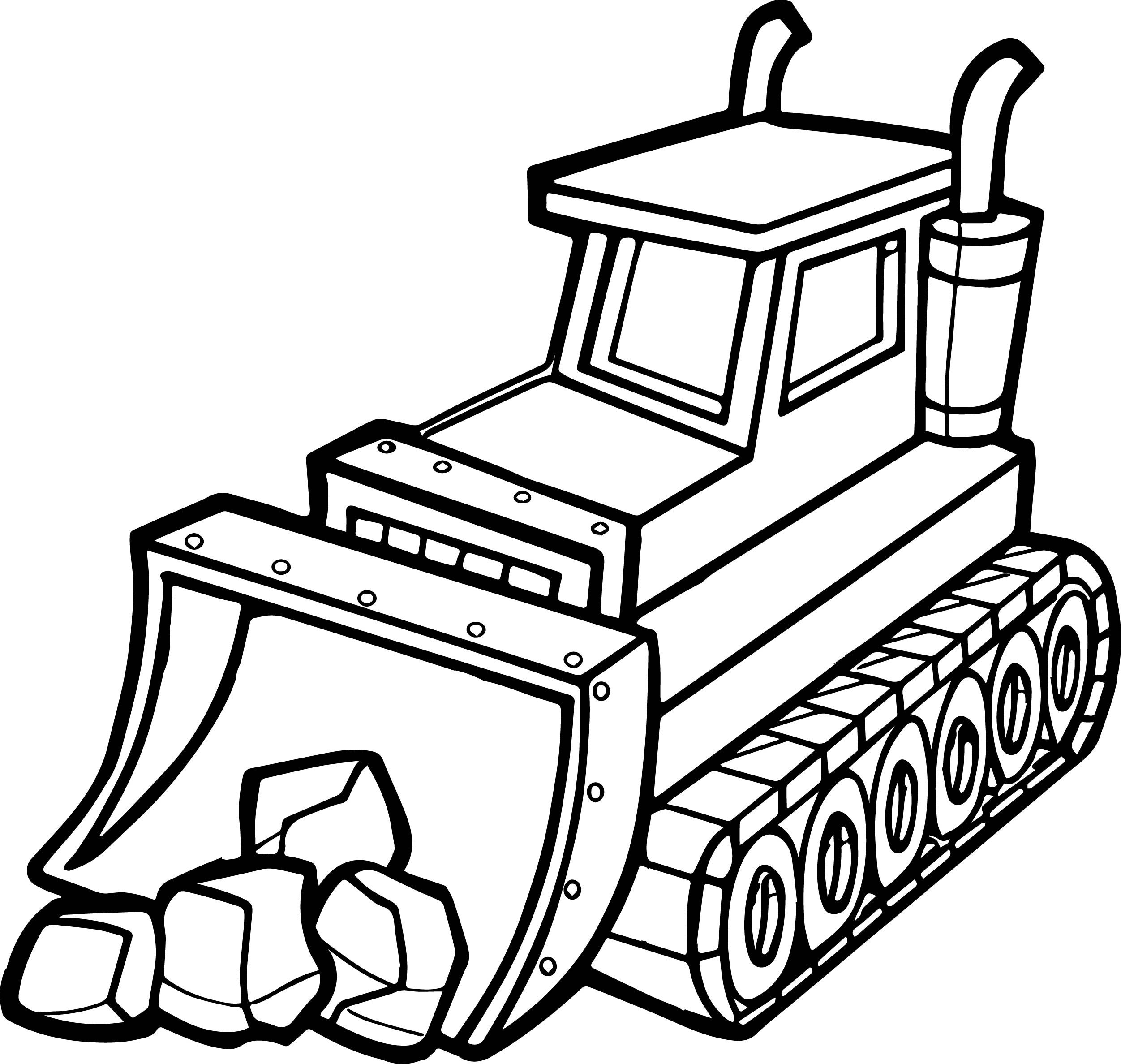 cool Best Stone Shovel Bulldozer Coloring Page Truck