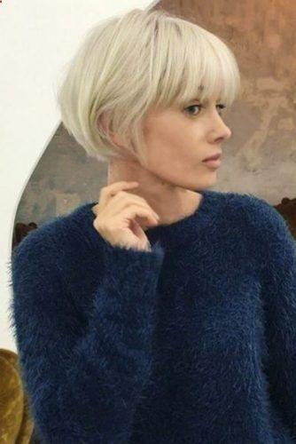 37 Best Short Hairstyles For Round Faces Frisyrer Kort Har