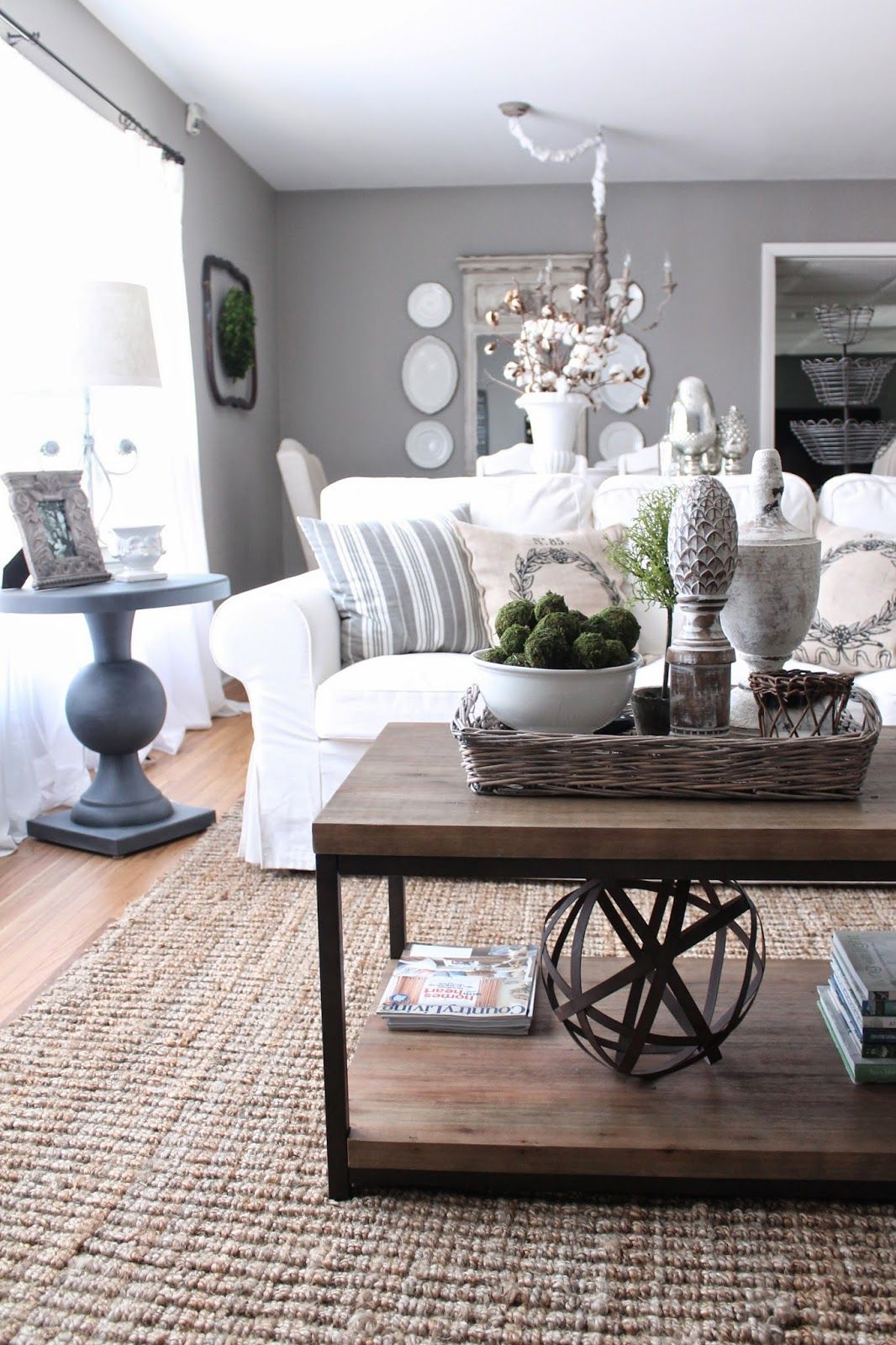 House Tour Decorating coffee tables, French country