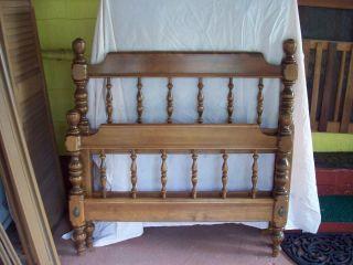 1964 Ethan Allen Style Hardrock Maple Full Sized Bed