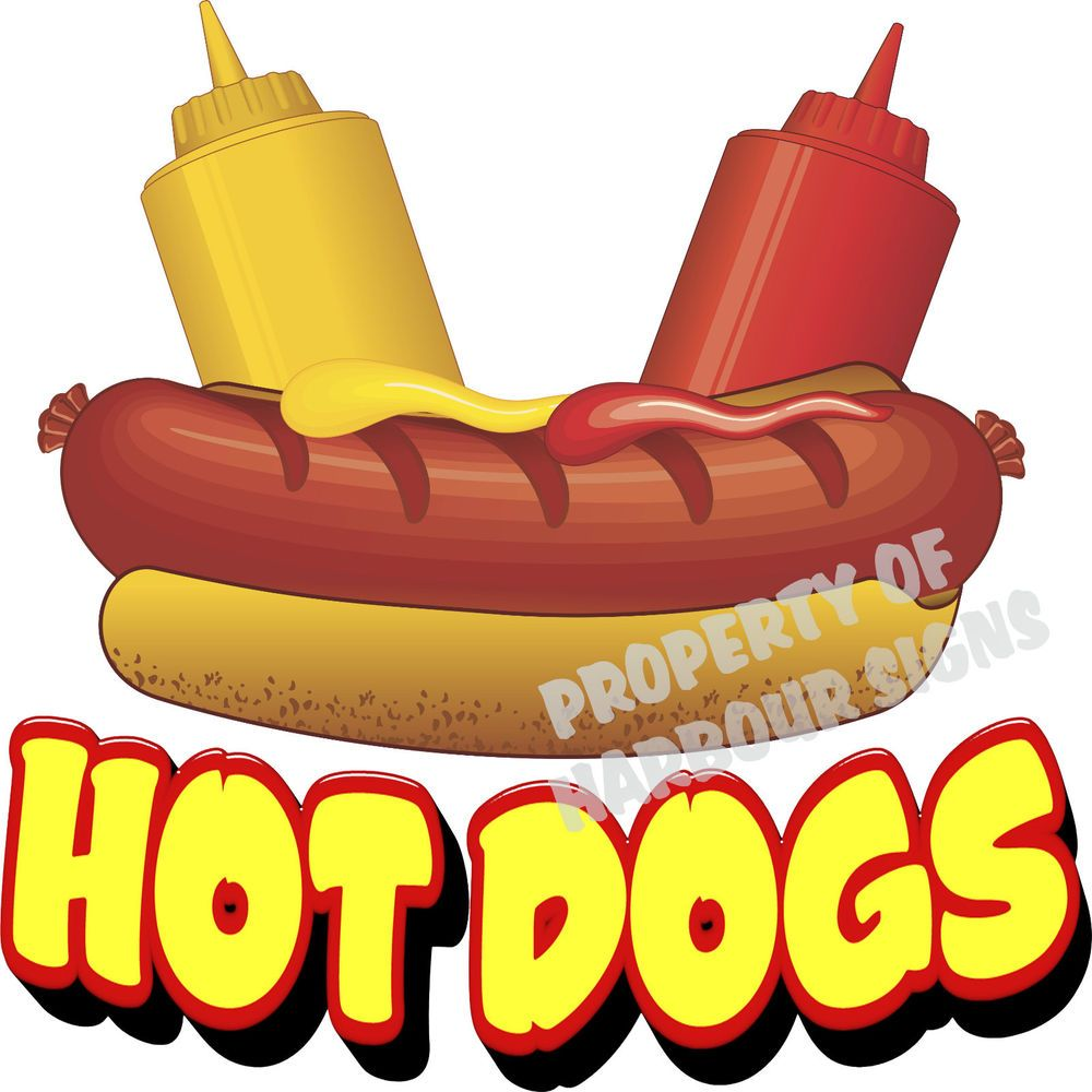 Details About Hot Dogs Decal 14 Restaurant Cart Concession