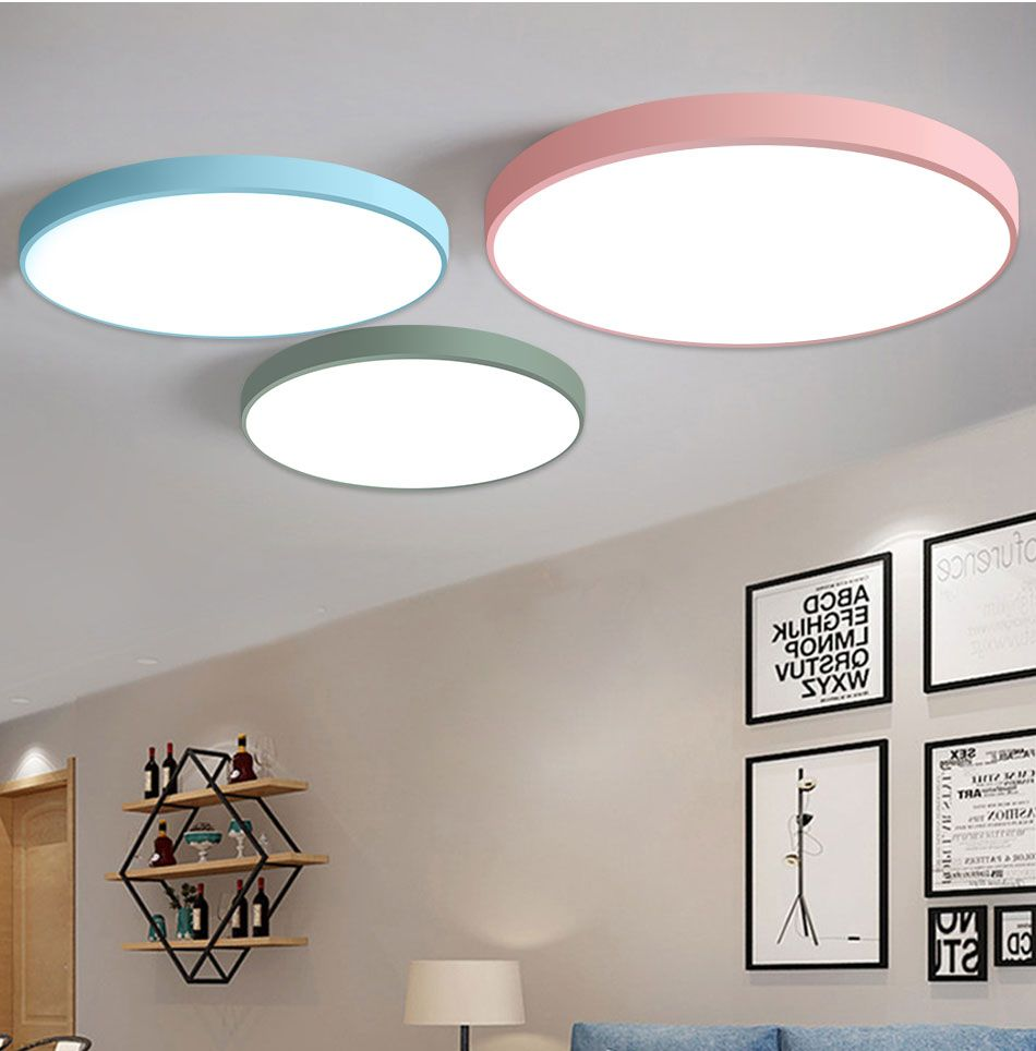 Flush Panel Remote Control Led Ceiling Modern Lighting Fixture In