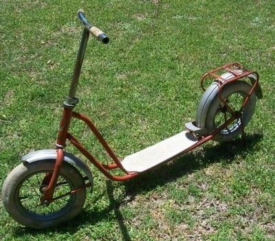 Vintage Rivel Push Scooter Kick Scooter 1940 S 1950 S Made In