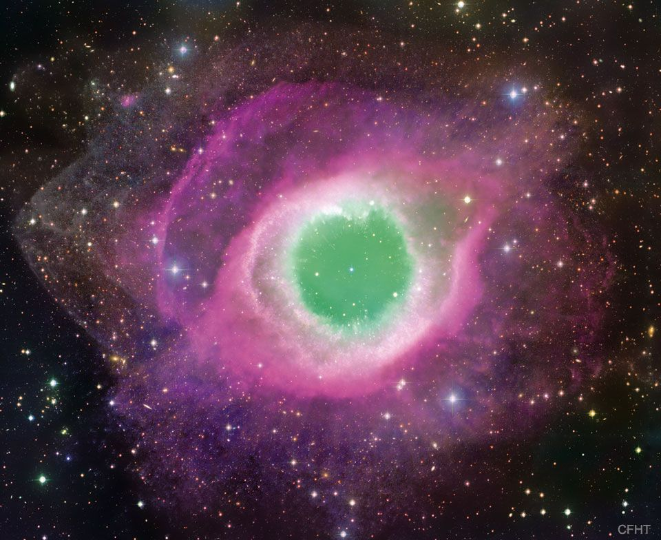 The Helix Nebula Is One Of Brightest And Closest Examples Of A