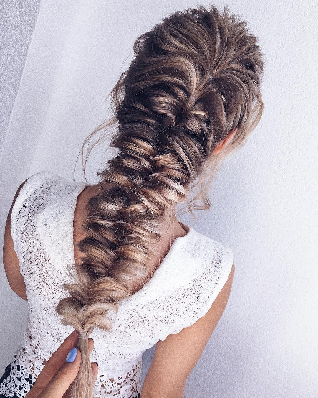 52 Beautiful Hairstyle Inspiration Braids Hairstyles Braided Ponytails Textured Braids Ha Elegant Wedding Hair Short Hair Styles Easy Braided Hairstyles